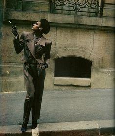 Helmut Newton for Yves Saint Laurent couture - model Amalia