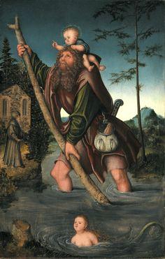 Lucas Cranach the Elder (German), Saint Christopher (c. 1518/20) | Detroit Institute of Arts