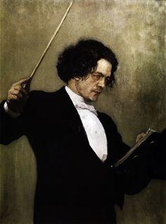 """Anton Rubinstein by Ilya Repin, 1887. """