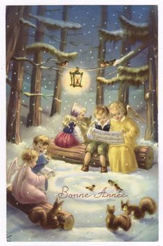 ANGIOLETTI ANGES - Buon Anno.Bonne Année.Neve. Angeli.Bambini.Enfants.Kinder.