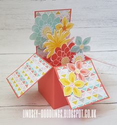 Stampin Up. Flower Patch. Card in a Box