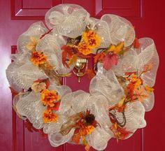 My first Deco Mesh wreath.  :)