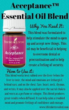 Acceptance Essential Oil Blend www.theoildropper.com