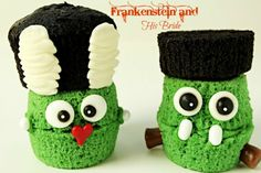 Frankenstein and The Bride of Frankenstein Cupcakes