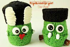 Frankenstein and The Bride of Frankenstein Cupcakes