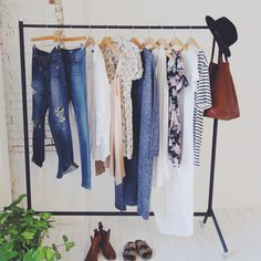 I want a standing clothing rack!!! One day.. hopefully my future husband builds it for me