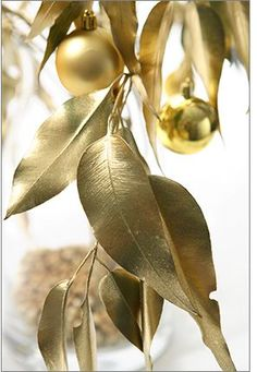 gilded twigs and leaves