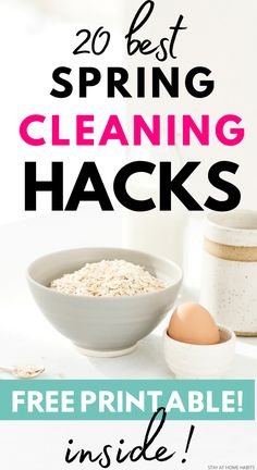 Check out these tips and tricks to spring clean your bathroom, oven, bedroom and living room! Ready for a deep clean? Diy Cleaning Products, Cleaning Hacks, Cleaning Schedules, Weekly Cleaning, Speed Cleaning, Cleaning Closet, Home Organization Hacks, Closet Organization, Organisation Ideas