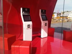 Interactive kiosk for the launch of Audi's A1 model.