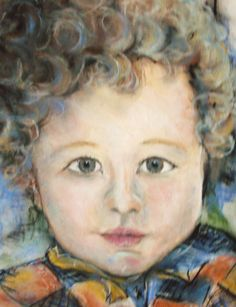 'Alex' pastels by Amanda Wright