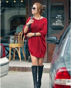 Korean Round Collar Women's Pullover Long Sweaters on BuyTrends.com, only price $21.30
