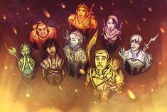 фэндомы,Dragon Age,DA персонажи,Мерриль,Варрик Тетрас,Авелин Валлен,Изабелла (DA),Фенрис,Андерс,Себастьян Вель,Хоук