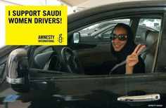 Amnesty International USA Saudi women are getting behind the wheel today to protest the country's ban on driving. Share this image if you support them!