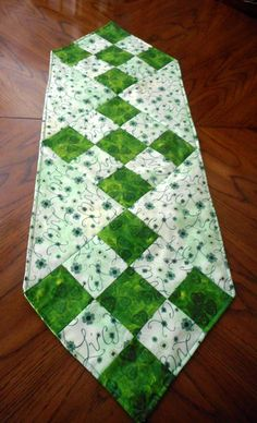 St. Patrick's Day Table Runner/May the luck O'the Irish be with you by ShirleyCQuilts on Etsy