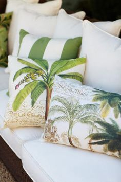 Beach inspired pillows