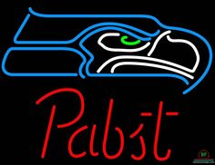 Pabst Blue Ribbon Seattle Seahawks Neon Sign NFL Teams Neon Light