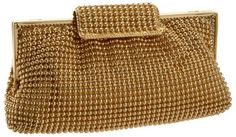Price: $46.00 | La Regale Clutch | Color: Gold | Beaded fabric, Made in China,