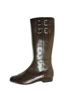 Donald Pliner Womens Dory Leather Boot Brown Midcalf Flat Buckle Riding Boot 75 N AA Narrow >>> Find out more about the great product at the image link.(This is an Amazon affiliate link)