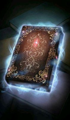 Magic Book of Eulis Dark Fantasy Art, Fantasy Artwork, Fantasy World, Anime Weapons, Fantasy Weapons, Magic Book, Magic Art, Magia Elemental, Elemental Magic