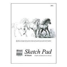 "Bazic Premium Sketch Pad (Set of 48) Size: 9"" x 12"""