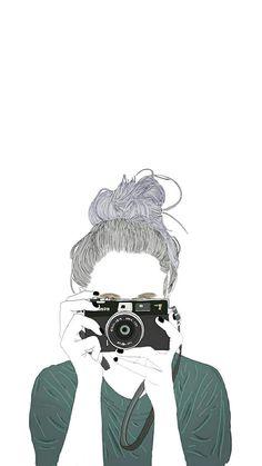 Ideas for wall paper art girl Blue Wallpaper Iphone, Cute Girl Wallpaper, Cute Wallpaper Backgrounds, Tumblr Wallpaper, Cute Wallpapers, Wallpaper Samsung, Trendy Wallpaper, Tumblr Girl Drawing, Tumblr Drawings