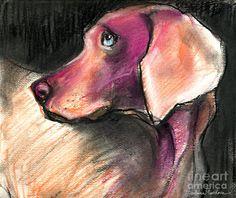 Weimaraner Dog painting Painting