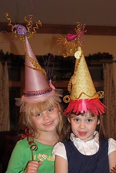 awesome new years eve hats or even birthday hats for kids!