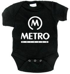 Metro Black Infant Onezie | $12
