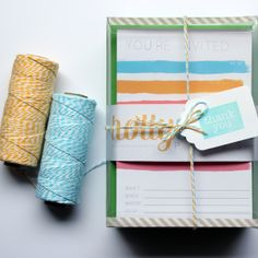 Packaging Idea! charm & gumption blog: STATIONERY PACKAGING & SHIPPING IDEAS