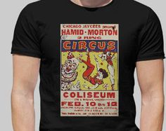 Vintage Circus Poster T-Shirt * 100% Cotton * Small, Med, Large, XL, XXL