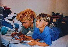 James Franco and Dave Franco Playing Video Games in the Early 1990s.