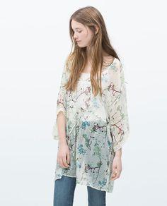 Image 2 of PRINTED KAFTAN from Zara
