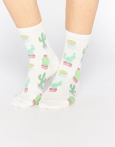 Buy ASOS Cactus Ankle Socks at ASOS. With free delivery and return options (Ts&Cs apply), online shopping has never been so easy. Get the latest trends with ASOS now. Cute Socks, My Socks, Happy Socks, Tennis Socks, Warm Socks, Asos, Foot Warmers, Crazy Socks, Ankle Socks