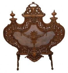 Exquisite 19th Century, French Fire Screen Fireplace Accessories, Home Decor Accessories, Fireplace Fender, Dressing Screen, Antique Bicycles, Fireplace Screens, Tiny Treasures, Antique Lighting, Cowboy And Cowgirl