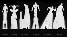 The Heroes. Wolverine, Spiderman, Batman, Iron Man, Flash & Superman. Wonderful