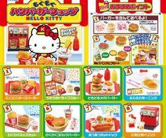 Re-ment Miniatures Sanrio Hello Kitty Burger Shop Set Barbie Doll Set, Barbie Food, Hello Kitty Toys, Sanrio Hello Kitty, Birthday Balloon Decorations, Mini Craft, Rement, Smart Doll, Barbie Collection