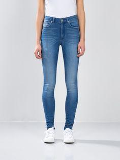 Higher FS Skymid jeans | 7149112 | Blå | BikBok | Norge