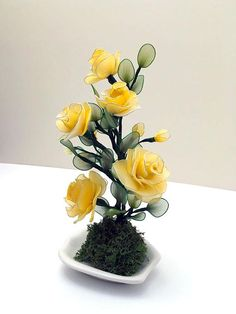 Handmade Nylon Flower Arrangement Decorations Nylon
