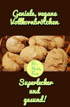 Bist Du noch auf der Suche nach einem einfachen, gesunden Rezept für superleckere Vollkornbrötchen? Dann ist dieses Rezept perfekt für dich! #vegan