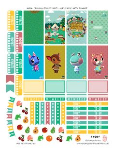 Animal Crossing Pocket Camp - Free Printable for Classic Happy Planner - Animal Crossing Fan Art, Animal Crossing Pocket Camp, Free Planner, Happy Planner, Planner Ideas, 2015 Planner, Diary Planner, Blog Planner, Bullet Journal Ideas Pages