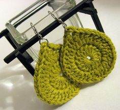 Crochet Earrings by craftydiva, via Flickr