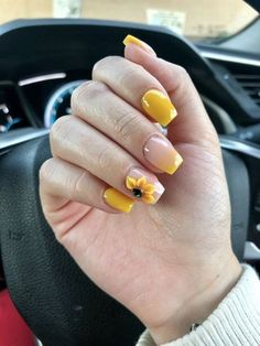 70 Best Chosen Gorgeous Yellow Nails Design For Summer Passion Life 2019 - Page 51 of 71 - Diaror Diary Summer Acrylic Nails, Best Acrylic Nails, Acrylic Nail Designs, Summer Nails, Gelish Nails, My Nails, Trendy Nails, Cute Nails, Yellow Nails Design