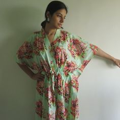 Buttoned Kaftan made from CC1 Fabric Pattern