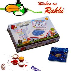 Picture of Angry Bird Learning Computer and Rakhi Hamper Hampers Online, Rakhi Gifts, Gift Hampers, Angry Birds, Children, Kids, Learning, Registration Form, Gift Baskets