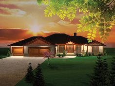 Craftsman House Plan Front of Home - 051D-0664 | House Plans and More