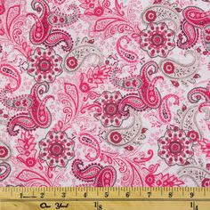 "100/% 45/"" CRAFT COTTON POPLIN PRINTED FABRIC DESIGNER PAISLEY CONCEPT QUILTING"