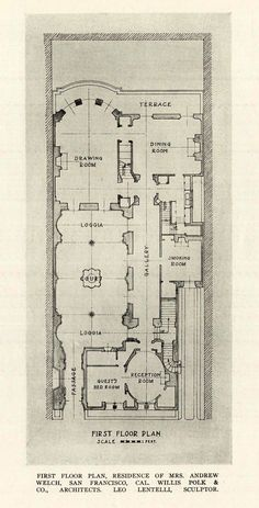 Floor plan of the Welch Residence, San Francisco