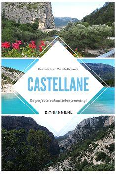 Castellane is de perfecte vakantiebestemming. Dit plaatsje ligt in Zuid-Frankrijk aan de bekende Gorges du Verdon. De Cote d'Azur ligt dichtbij met plaatsen als Nice, Monaco, Grasse en Cannes op rijafstand. Ook de natuur van de Haute Provence is prachtig! Wat dacht je van het helblauwe Lac de Castillon, dat bij Castellane ligt? #Castellane #hauteprovence #Frankrijk #lacdecastillon #natuur Haute Provence, Mediterranean Sea, Europe Travel Tips, All Over The World, Places Ive Been, Travel Inspiration, Vacations, Beautiful Places, Road Trip