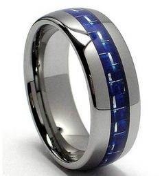My man wants sapphire in his wedding band. So hard to find!