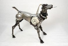 Old Car Parts Sculpture by James Corbett